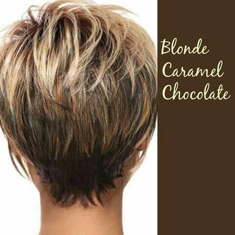 Blonde Caramel Chocolate Me Gusta Como Se Ve El Corte Por Detras - Corte-de-pelo-por-detrs