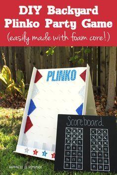 Make Your Own DIY Backyard Plinko Board Game