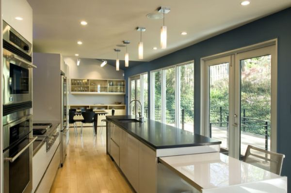 Interior designs for long and narrow kitchens Narrow kitchen