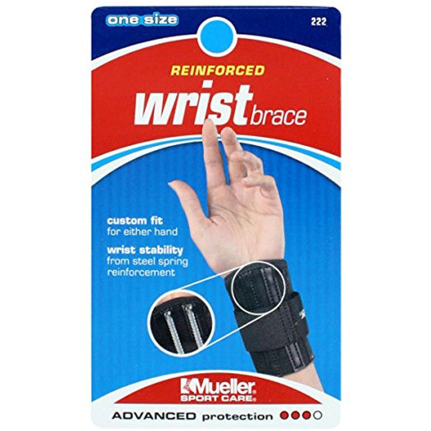 Reinforced Wrist Brace Black by Mueller ** Be sure to