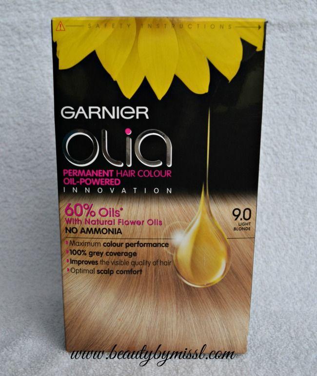 Garnier Olia Review Garnier Olia Hair Dye 9 0 Light Blonde