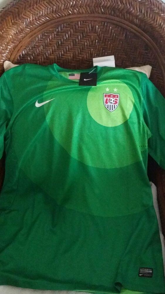 USA Nike World Cup Soccer Jersey GREEN size XL womens in Sports Mem ... 91df1c3a31