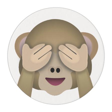 See No Evil Monkey Emoji Edible Frosting Rounds Monkey Emoji Monkey Stickers Emoji