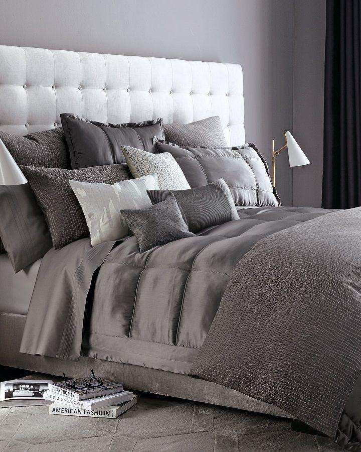Schlafzimmer Grün Grau: 40 Grau Schlafzimmer Ideen