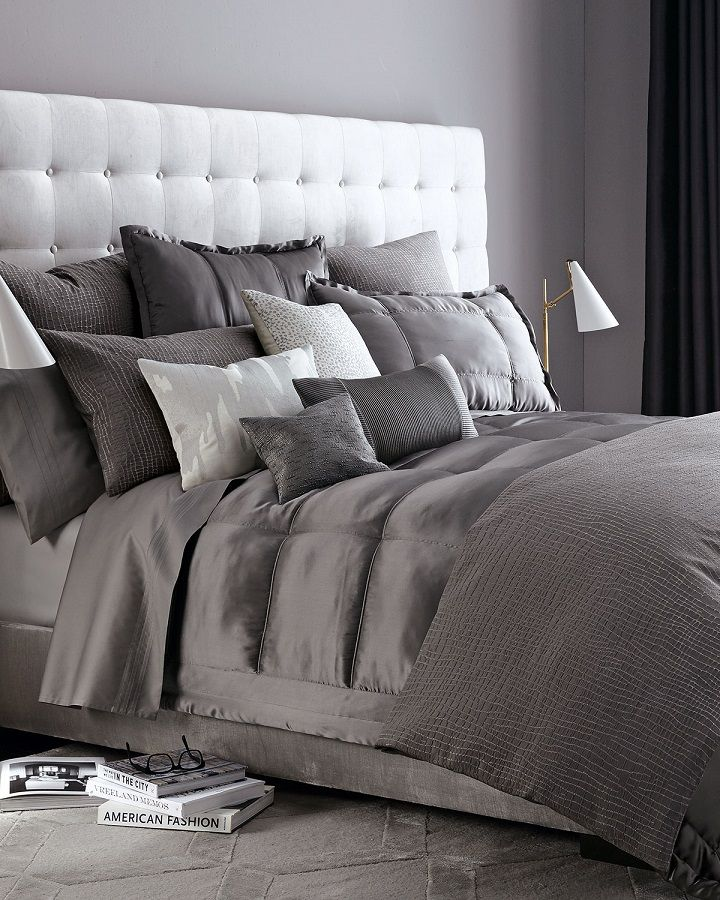 gray bedroom Bedroom, ideas, room, creative, interior, home, house, organization, apartment, storage, indoor, modern, vintage, sleep. bed, sleeproom, furniture, decor, decoration.