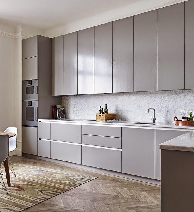 Graue Küchen, Küche Hochglanz, Küche
