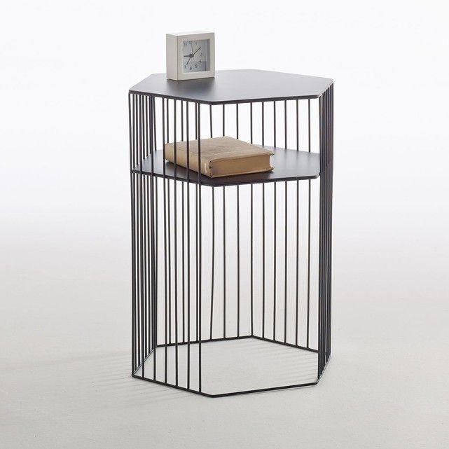 Le chevet filaire double plateau Topim Quand le design rime avec - Peindre Table De Chevet
