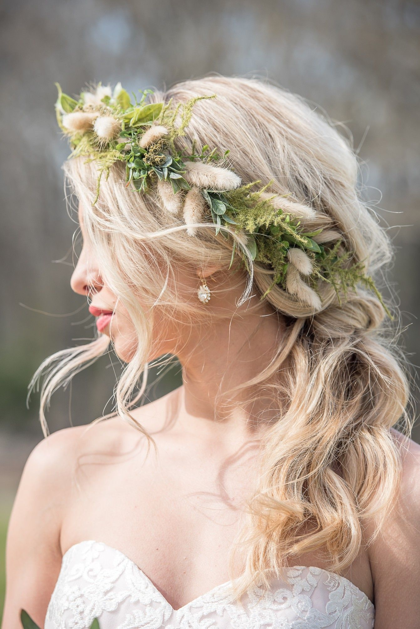 Wedding Hairstyles Loose Braid With Hair Tied Back By Sunkissed