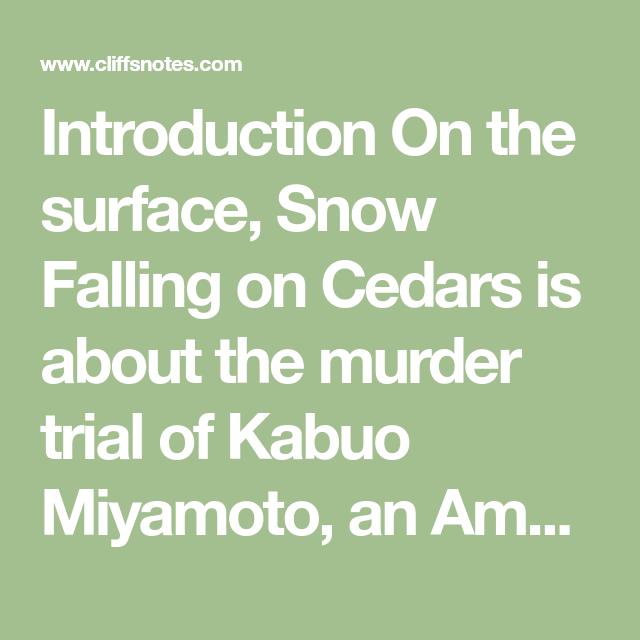 Pin On Book Club Argumentative Essay Snow Falling Cedars Cedar