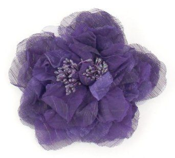 Sparkle Pinstripe Flower Clip or Pin in 7 Colors Flower Colors: Purple Flower Greatlookz. $4.99