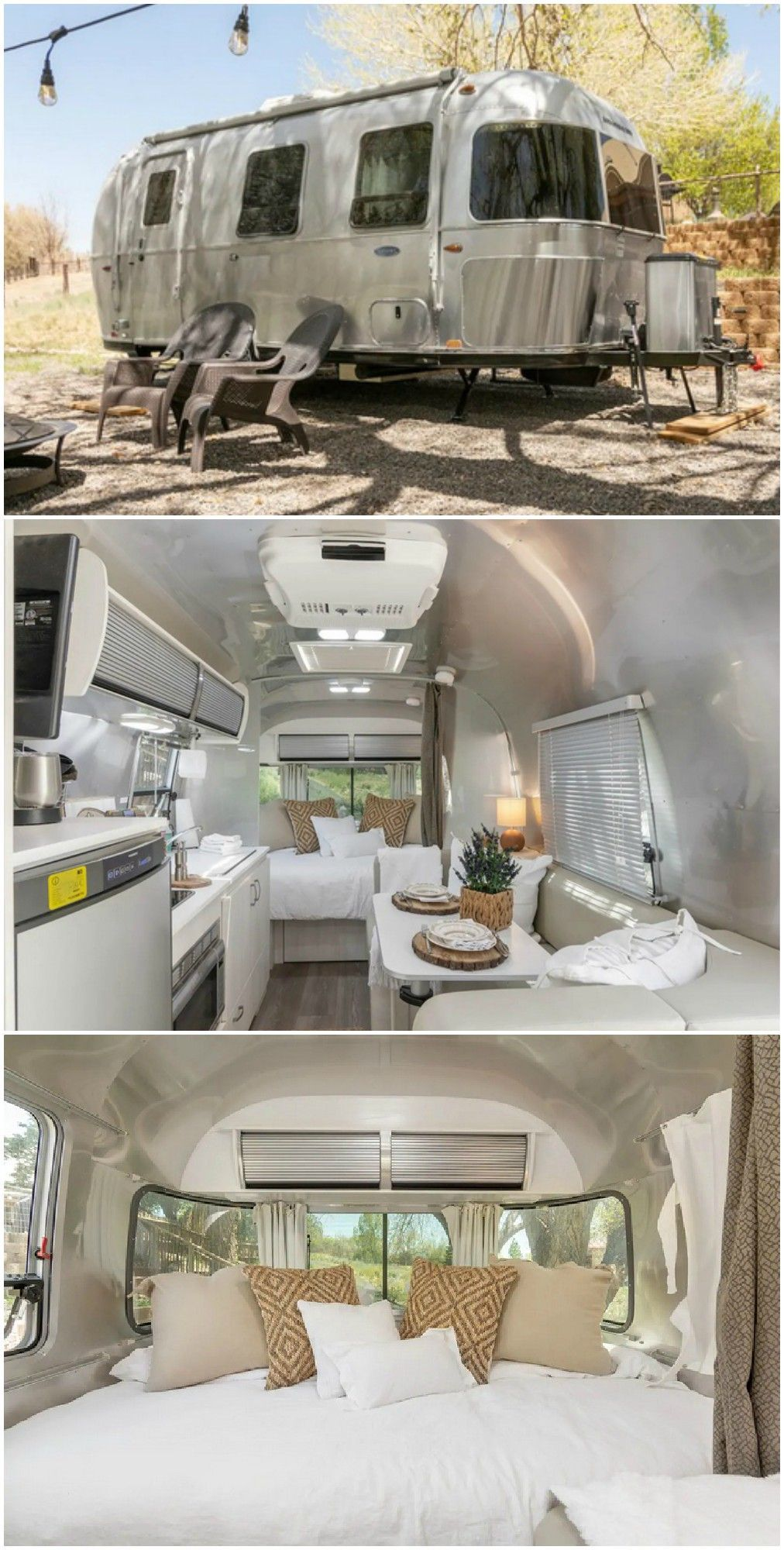 14 Gorgeous Airstream Trailers To Rent For Your Next Vacation In 2020 Airstream Trailers Airstream Interior Airstream Camping