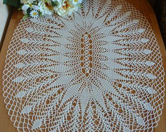 Crochet Doilylace Table Clothcrochet Napkinecru Doilycrochet