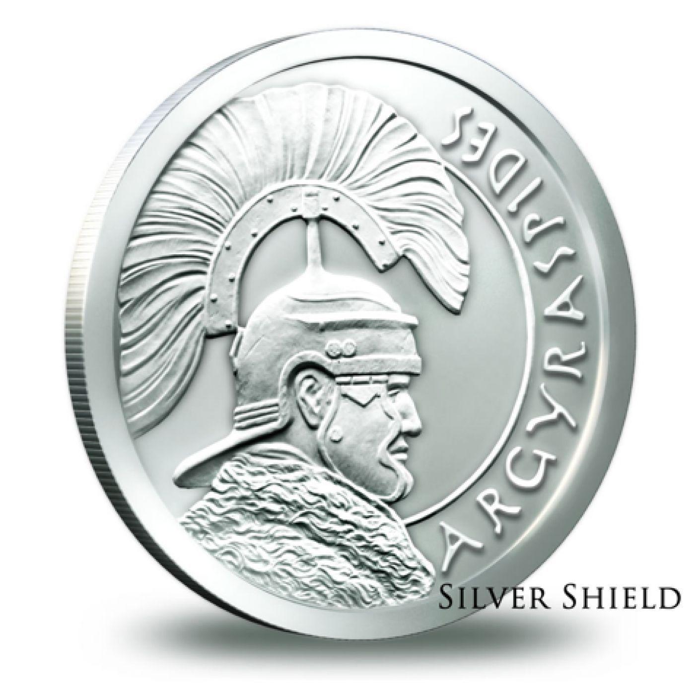 2014 Silver Shield Argyraspides 1 10 Oz 999 Silver Bu Round Usa Bullion Coin Coins Bullion Coins Bullion