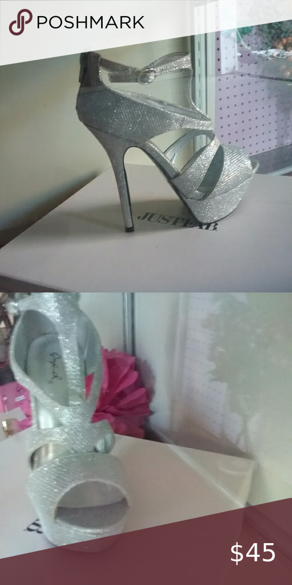Qupid Silver High heels Stunning Silver Stiletto worn only once for one hr Shoes Heels
