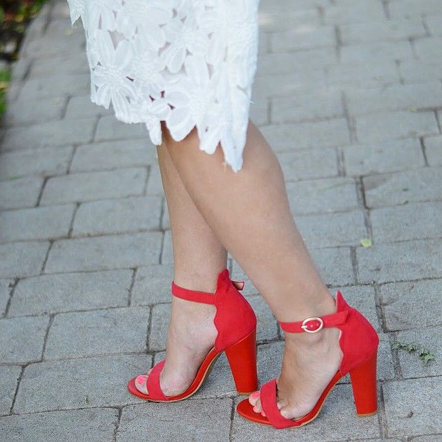 RED HOT! Michelle looks fabulous is these babies. Check 'em out here:  https://www.shopthemint.com/products/vintage-vixen-heel-red