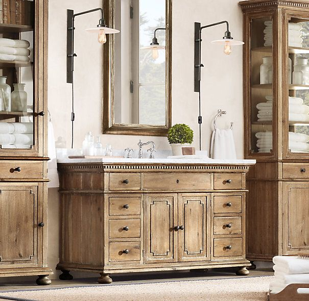 St. James Single Extra-Wide Vanity | Restoration hardware ...