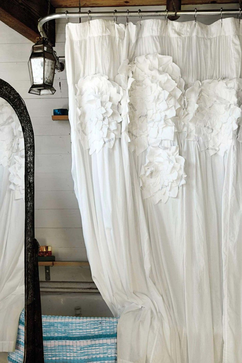11 Incredible Secrets Of How To Craft White Ruffle Shower Curtain