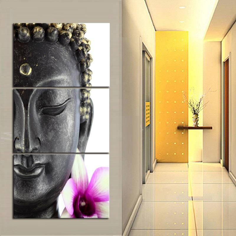 3 Panel Canvas Buddha Wall Art Print Picture Set | Print pictures ...