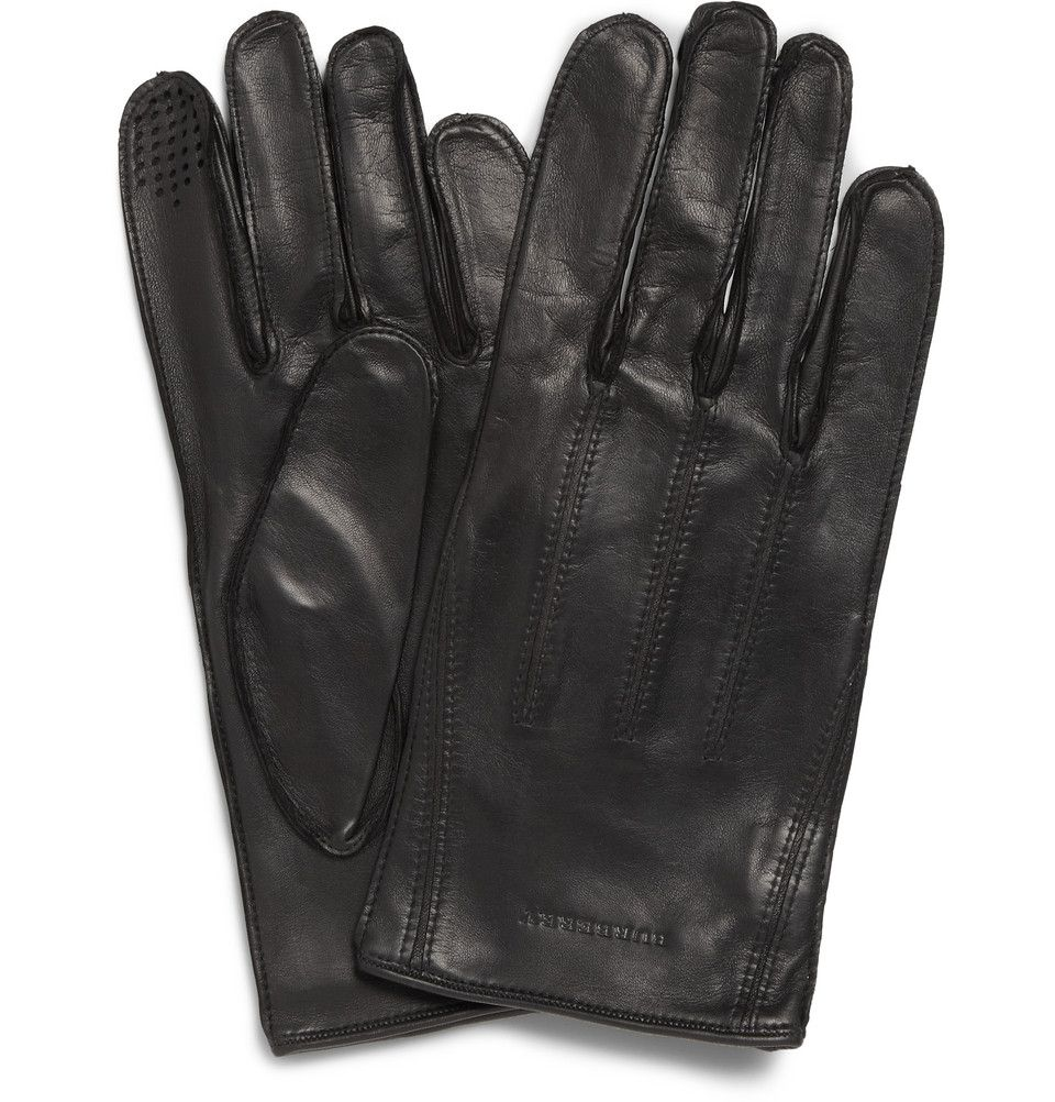 Mens leather gloves for iphone - Burberry Leather Gloves