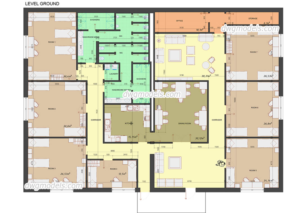 Hostel Plan Hostels Design Hostel Room Hostel