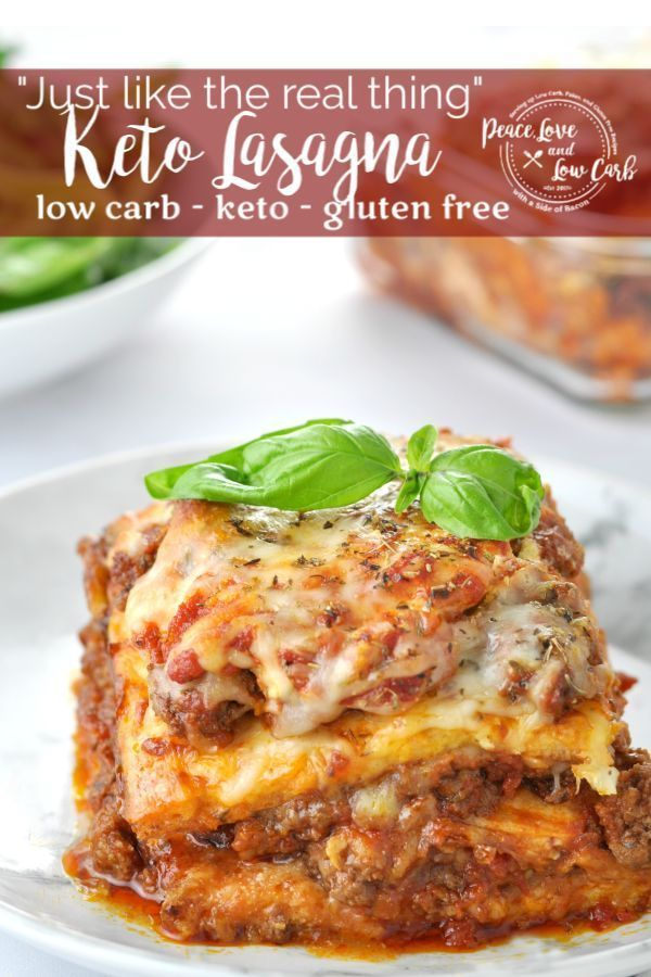 """Photo of """"Just Like the Real Thing"""" Keto Lasagna   Peace Love and Low Carb"""