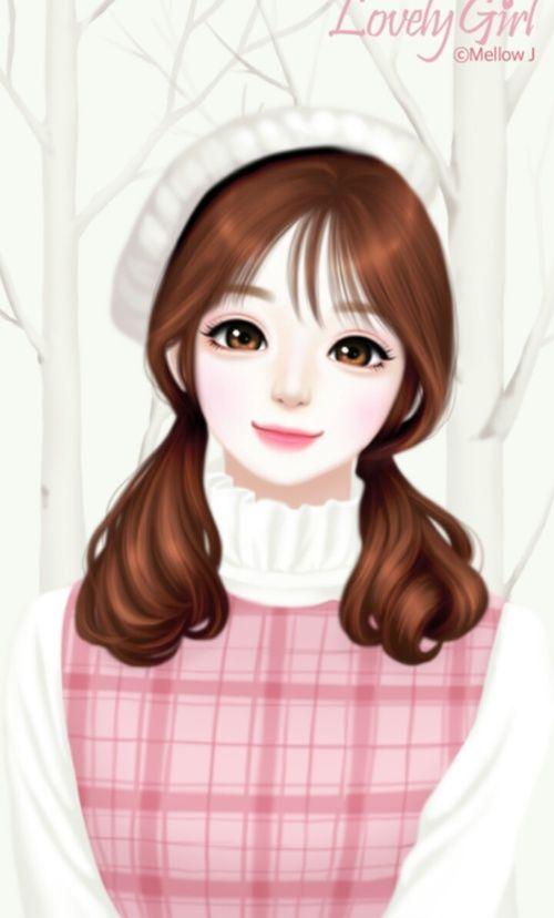 Enakei Art And Girl Image Dengan Gambar Gadis Animasi