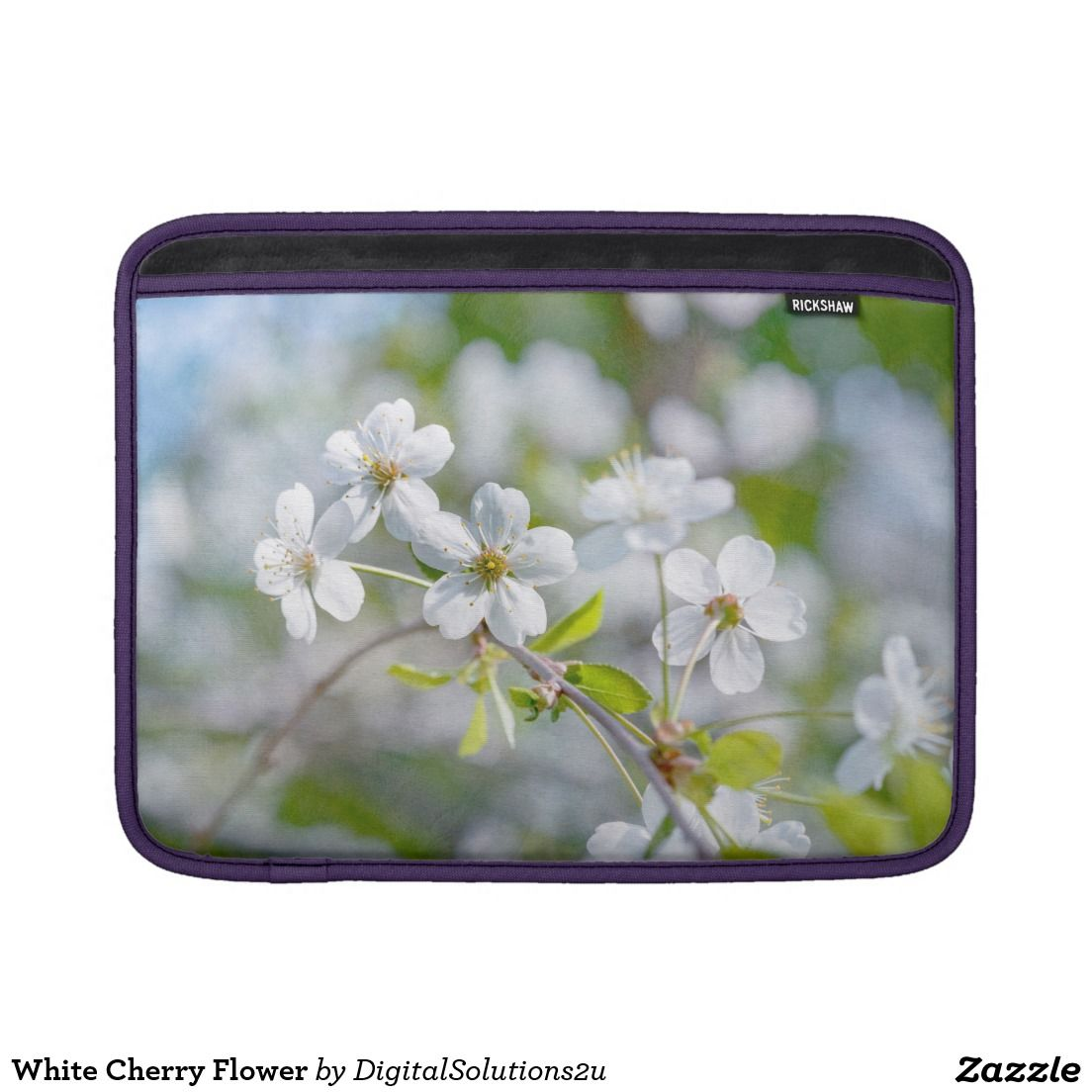 White cherry flower sleeves for macbook air electronics