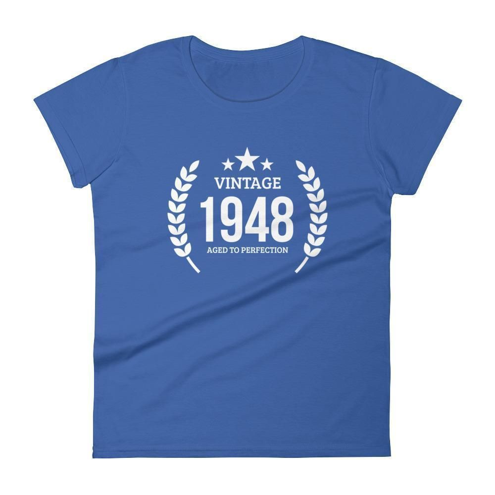 Womens Vintage 1948 Aged To Perfection T Shirt