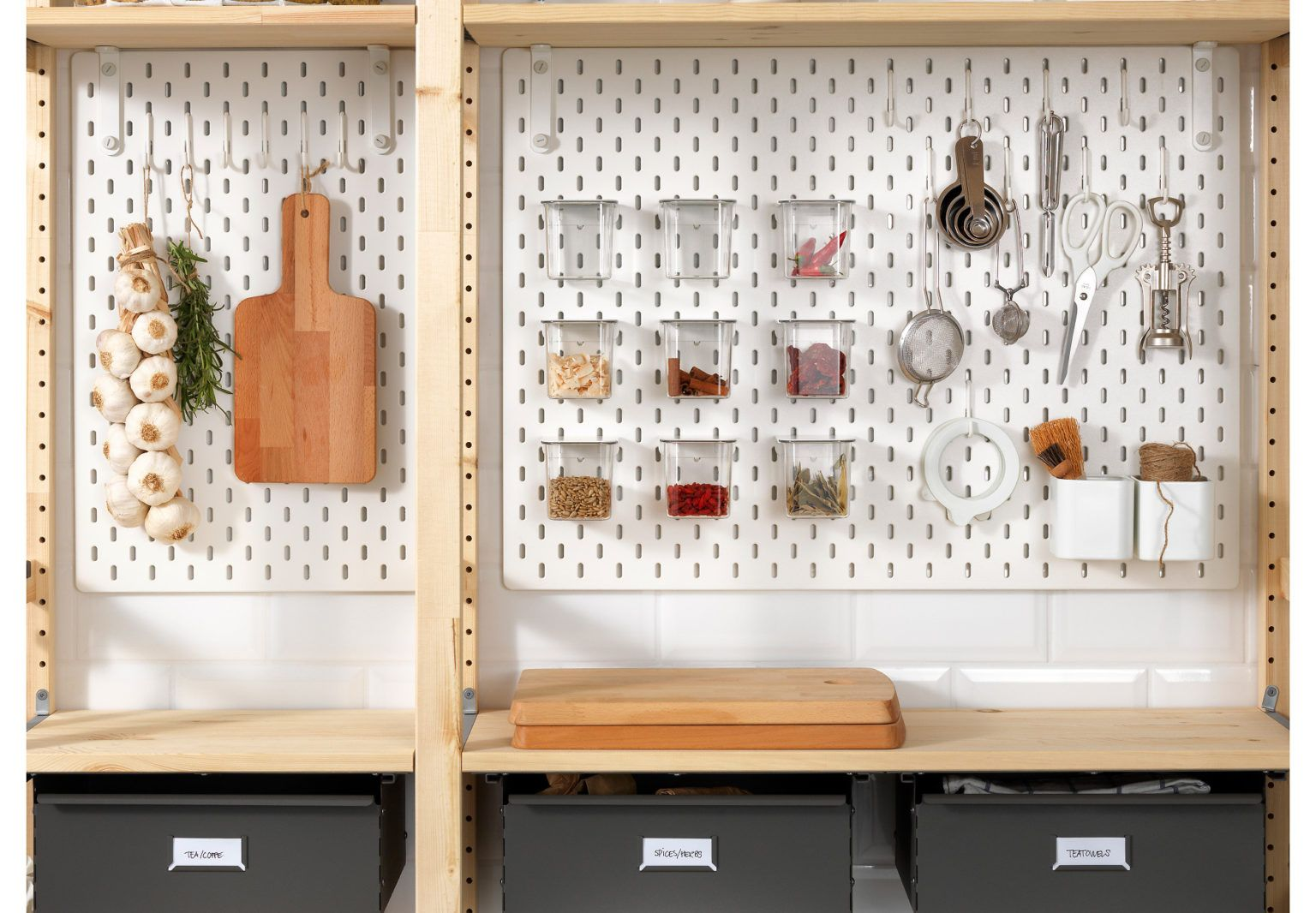 News You Can Use Ikea S Skådis Pegboards Now Available In Us The Organized Home Home Organization Garage Decor Kitchen Arrangement