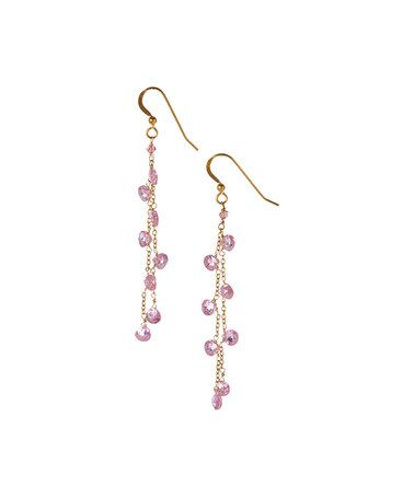 Love this Rose Quartz Multistrand Drop Earrings on #zulily! #zulilyfinds