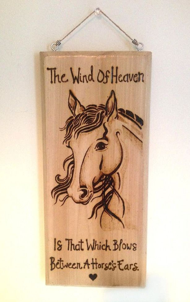 The Wind Of Heaven Wood Burned Plaque by HeartHavenStudio on Etsy #kidswoodcrafts #burnedwoodstenciling