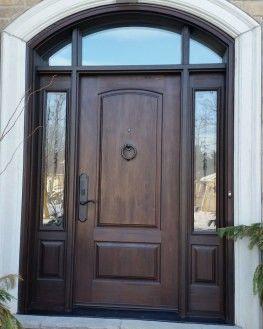 Hdwdc104 8 Ft Mastergrain Fiberglass Doors With 2 Sidelites And Custom Arch Transom Fiberglass Front Entry Doors Entry Doors Front Entry Doors