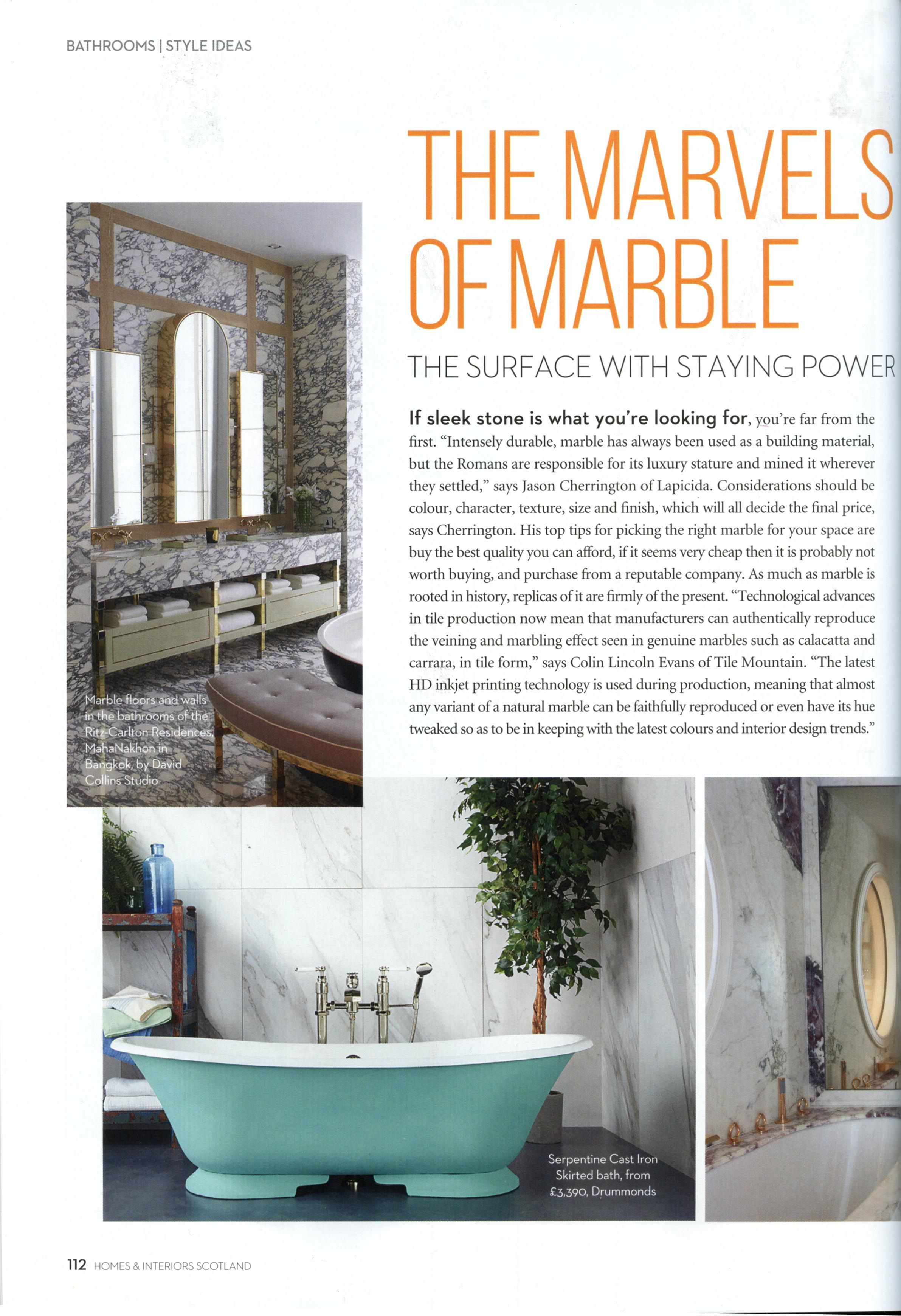 Here Is Some Useful Advise About Marble From Jason Cherrington Of