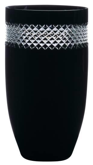 Waterford Crystal John Rocha | Black Cut glasses bowls and vase Black Cut 12 inch Vase