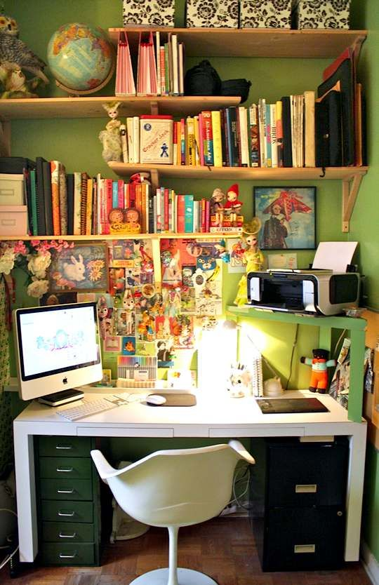 tiny office space. Amy \u0026 Keith\u0027s Candy-Coated Dollhouse. Small Office SpacesTiny Tiny Space