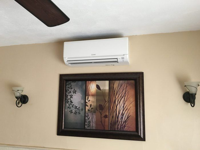 Mitsubishi Ductless Air Conditioner One Day Installation Air