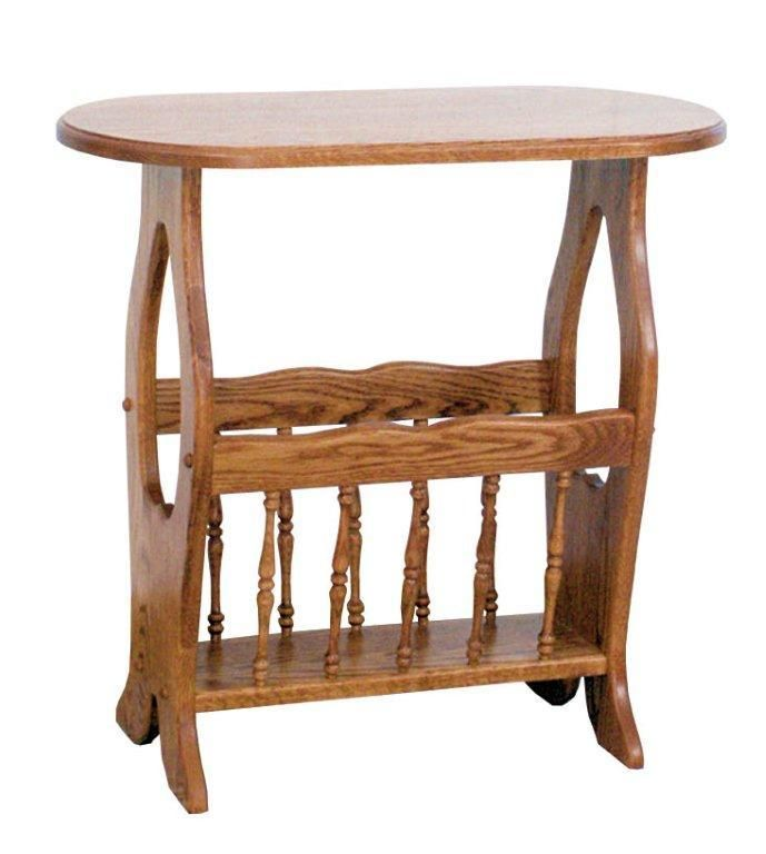 Amish Country Heart Magazine Rack End Table