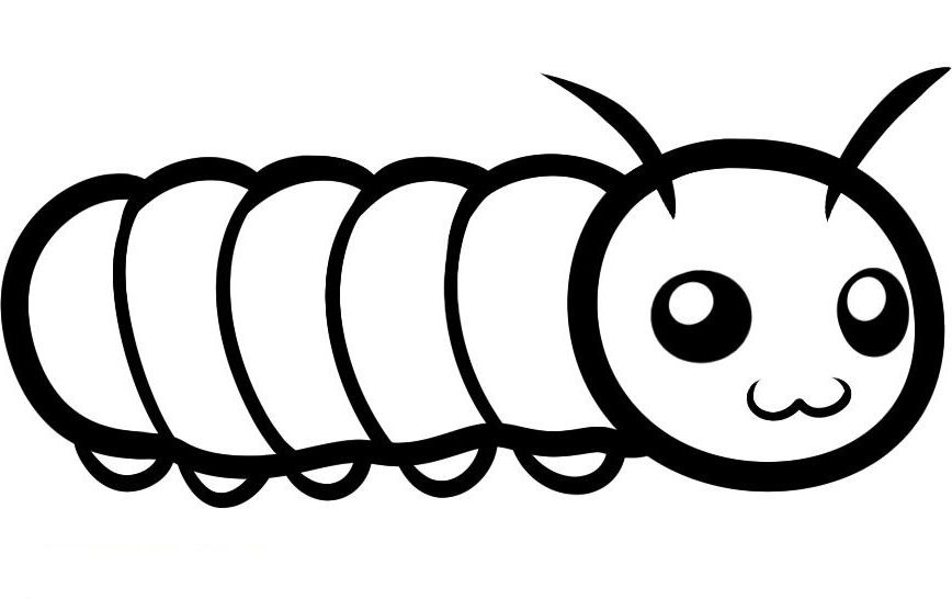 Caterpillar Coloring Pages Printable For Childs Coloring Pages Cute Coloring Pages Super Coloring Pages