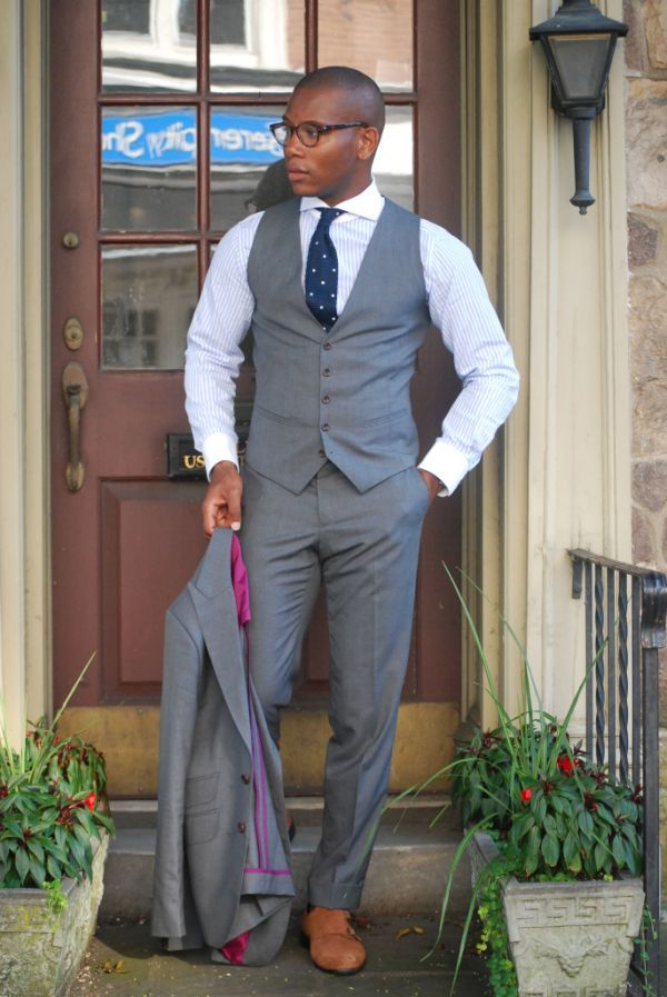 The Everyday Grey Suit by Sabir Peele | Men's style, Shoes and ...