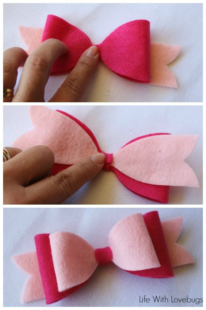 No Sew Felt Hair Bow | FABulous Felt | Pinterest | Hair bow ...