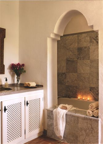 The hammam-style master bath