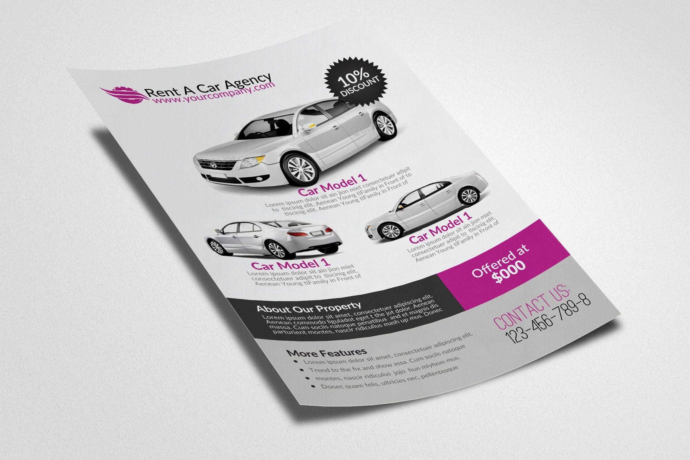 Download Rent A Car Flyer Template Flyer Template Flyer Flyer Design Templates PSD Mockup Templates