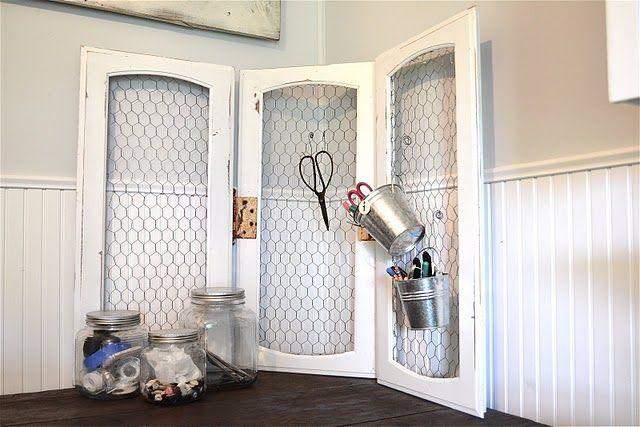 cabinet doors | Cabinet Doors | Pinterest | Chicken wire, Cork and Doors