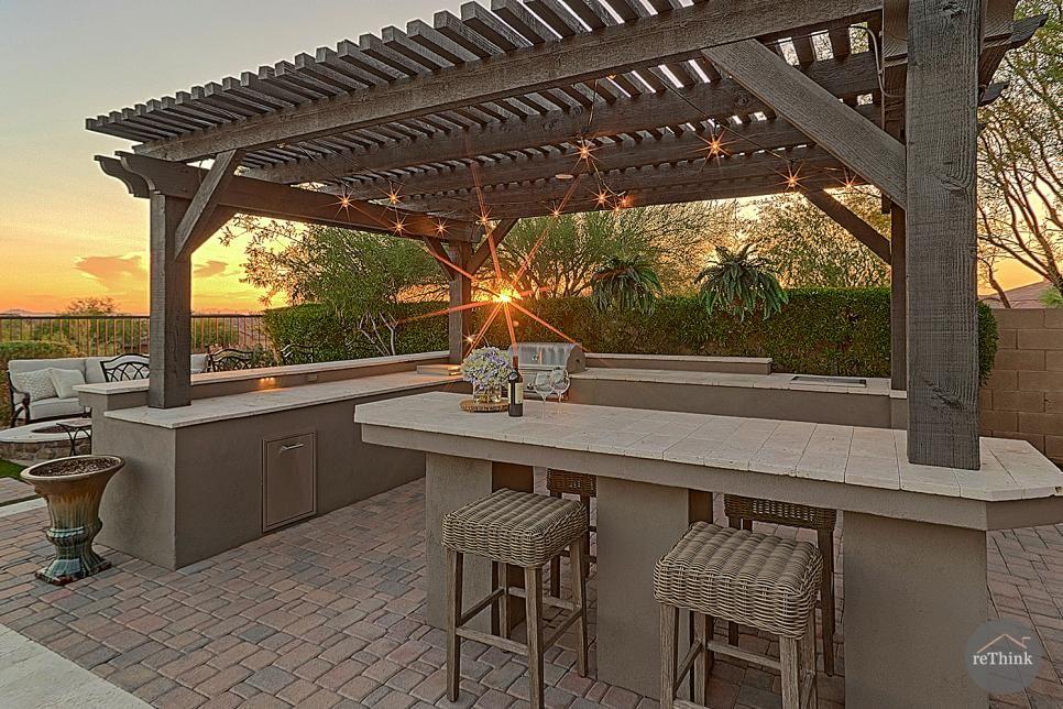 Southwest Outdoor Kitchen With Pergola Pergola Outdoor Kitchen Design Rustic Outdoor Kitchens