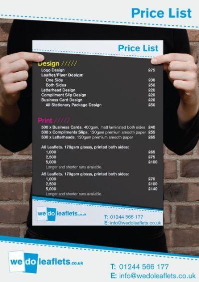 Graphic designer price list design prices pinterest price graphic designer price list reheart Choice Image
