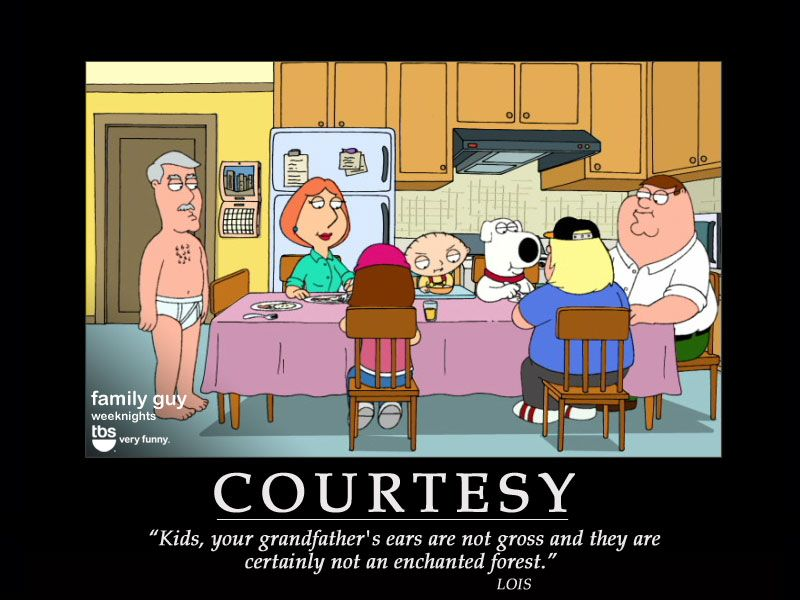 FAMILY GUY POSTER ~ TV CAST QUOTES 24x36 Cartoon Stewie Peter Brian Quagmire