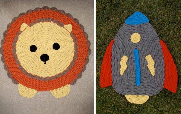 Alfombras y cojines de crochet para ni os almohadas - Alfombras ninos ...