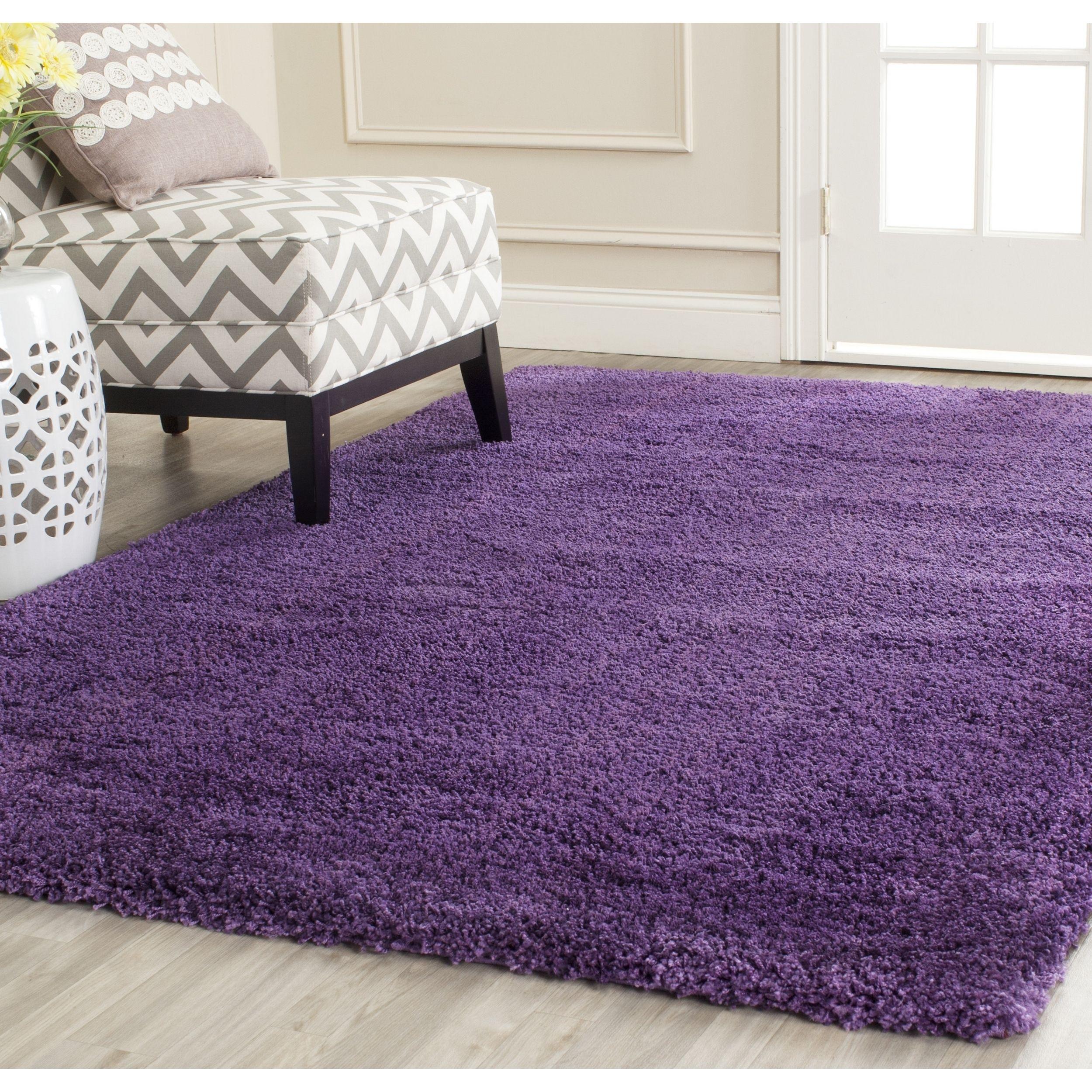 Safavieh Milan Shag Purple Rug 10 X 14 Sg180 7373 10
