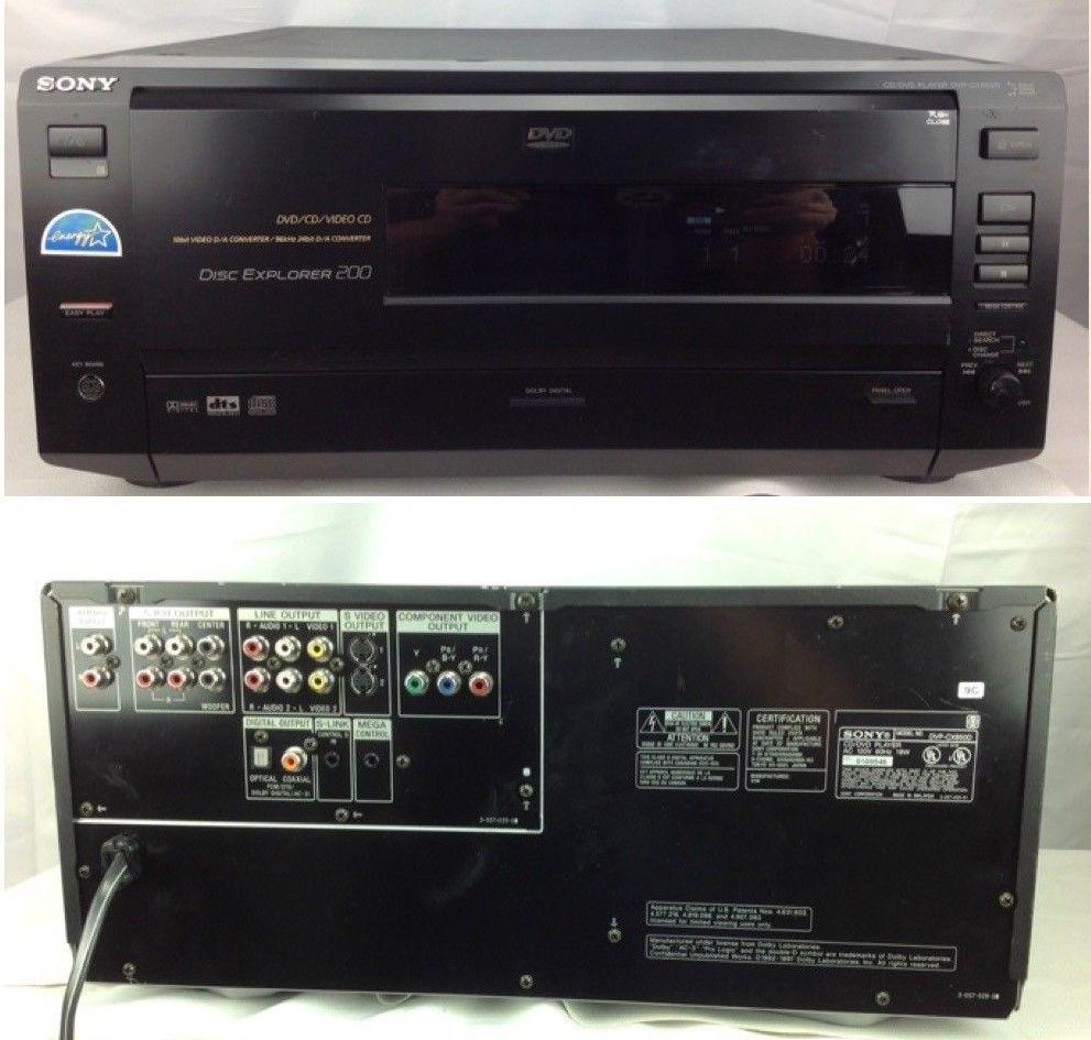 Sony Disc Explorer 200 CD DVD Player Changer DVP CX850D Jukebox WORKS