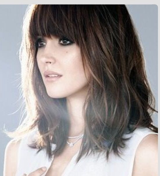 medium length brown hair with bangs wwwpixsharkcom